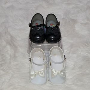 2 FOR $10 LIKE NEW BABY GIRLS PATENT-LEATHER SHOES